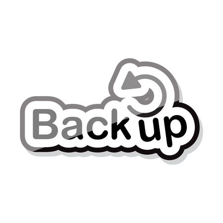 Back up text design on white background isoler illustration vectorielle eps 10