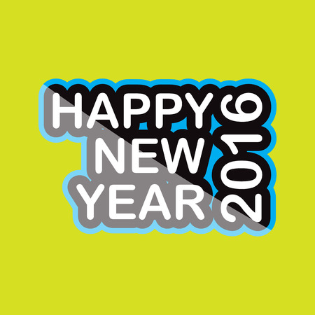 newyear card: happy new year 20160 icon text design on background isolate vector illustration eps 10