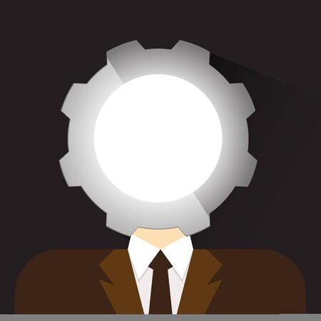 head gear: person head  gear icon vector illustration eps 10 Illustration