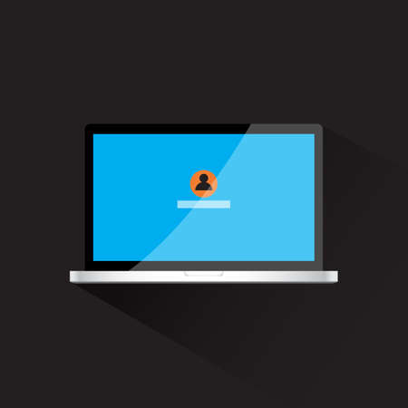 eps vector icon: laptop flat icon vector illustration eps 10