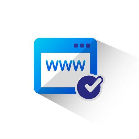 registrar: Domain Registration flat icon isolate on white background vector illustration eps 10 Illustration