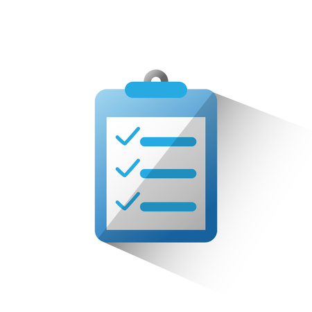 verification: Verification of delivery list clipboard flat icon isolate on white background vector illustration eps 10