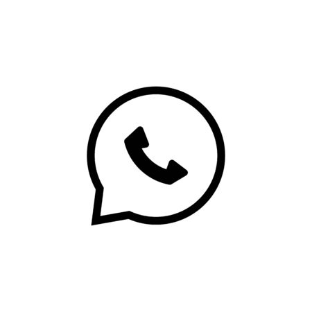 phone receiver: Phone receiver flat icon isolate on white background vector illustration eps 10