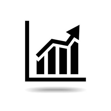 ascendant: Ascendant bars graphic flat icon isolate on white background vector illustration eps 10