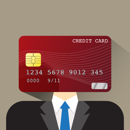 head shoulders: person head credit card flat icon vector illustration eps 10