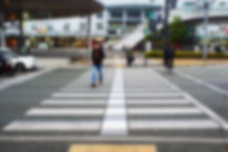 paso de cebra: resumen de antecedentes borrosa de personas que cruzan un paso de peatones de la calle