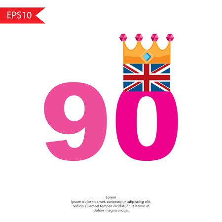 UK Queens Anniversary concept vector