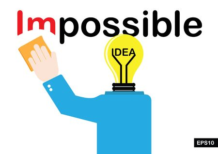 possible: Ideas make the impossible become possible vector Illustration