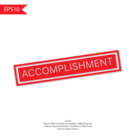 concluded: ACCOMPLISHED red Rubber Stamp on white background Illustration