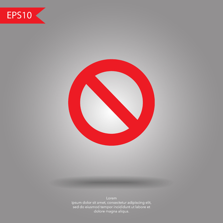 No Sign, isolated , vector illustration.