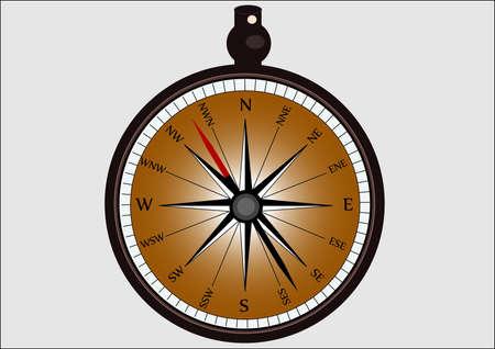 Compass .  Illustration Stock Vector - 17338708