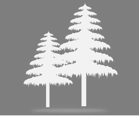 christmas tree Shadow white Stock Vector - 17603962