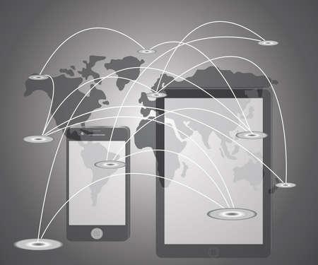 グローバル ビジネス概念シリーズからの最高のインターネットの概念