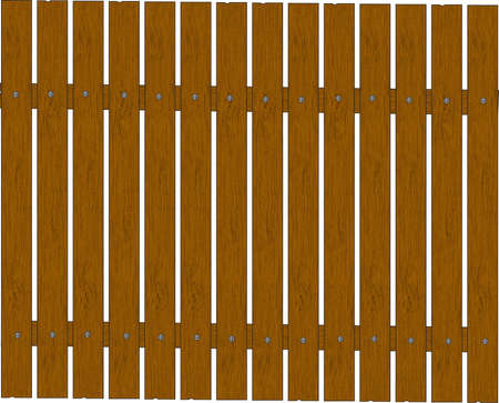 Wooden Fence - vector