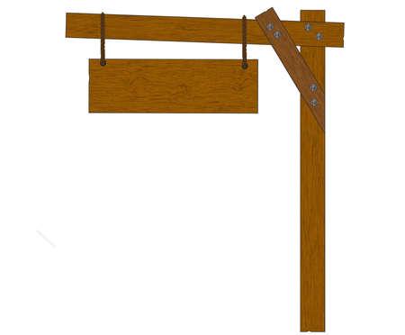 Wooden sign- vector