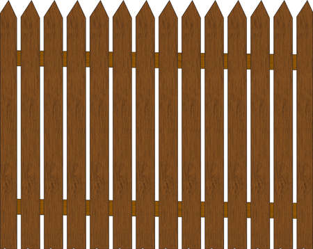 wooden fence: a wooden fence isolated on white