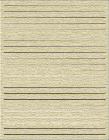 one sheet: One sheet from notebook on yellow background Illustration