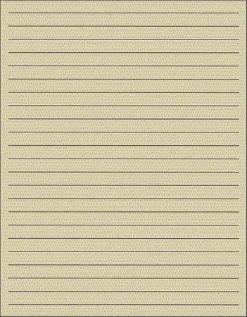 one sheet: Un foglio di quaderno su sfondo giallo Vettoriali