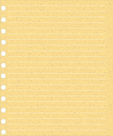 A page ripped off from the notebook Stock Vector - 20725092