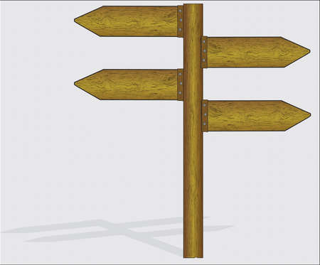 Wooden sign- vector Stock Vector - 21637815