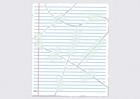 papers Tear ready for your message illustration