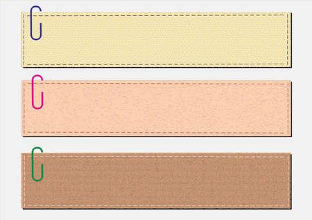 merken: Papier-Notizen auf einem weißen Hintergrund Illustration