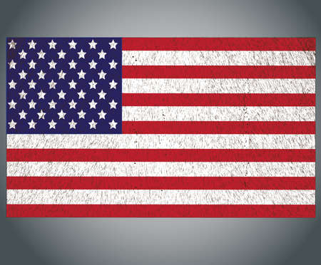 American Flag for Independence Day Illustration