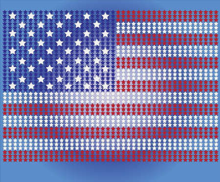forth: American Flag for Independence Day. Vector illustration.