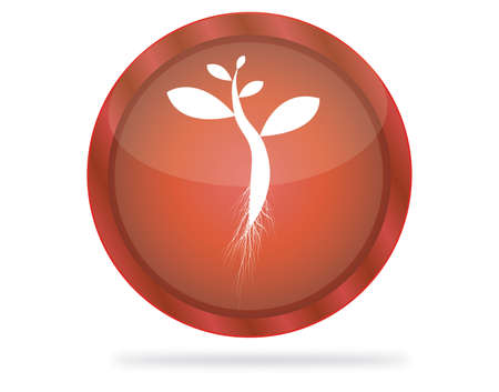 red tree button Illustration