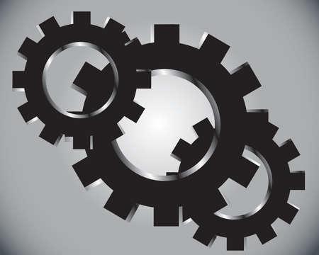 gears on a grey  Vector