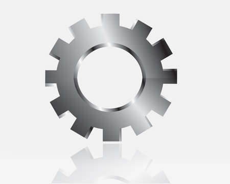 Vector gears, isolated object on white background, technical, mechanical illustration Vector
