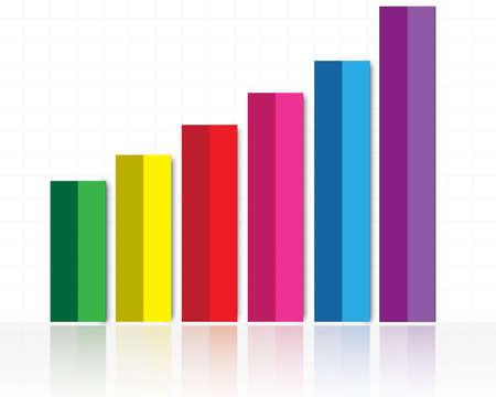 ilustración de coloridos gráfico de barras con el aumento Ilustración de vector
