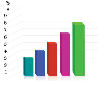 bar chart: Vector Business Background Illustration