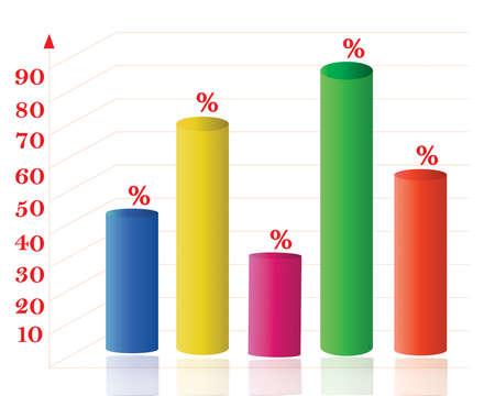 profit and loss: Astratto statistiche 3D, profitto di attivit� e perdita di sfondo eps 10