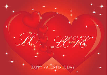 Valentine Hearts Background. Vector