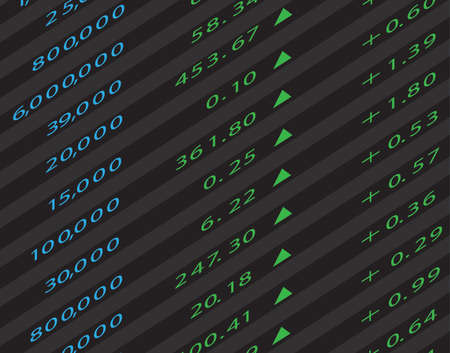 3d Render Stock Market Graph Vector