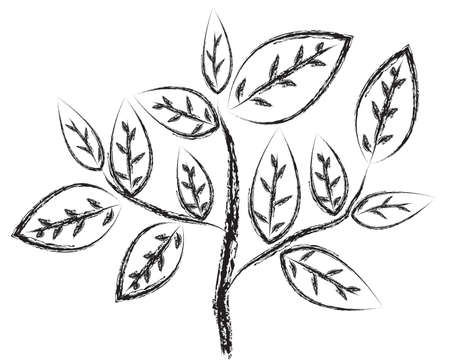 bareness: Tree silhouettes. Vector illustration.