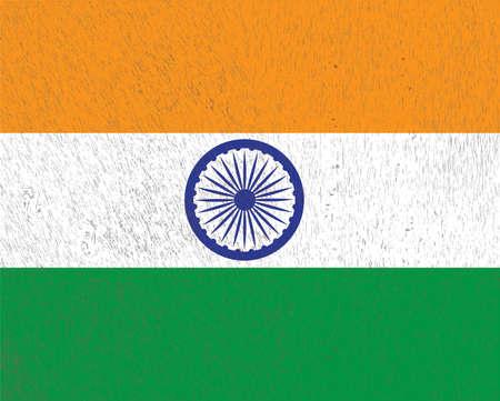 indian flag: Indian Flag. Vector Illustration. Eps 10