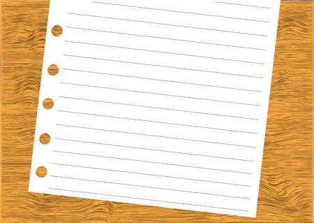 note- on wood background Vector
