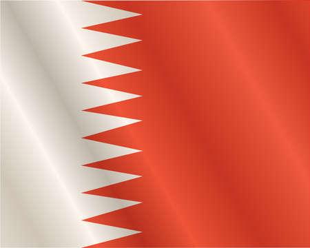 three dimensional: Bahrain flag, three dimensional render, satin texture