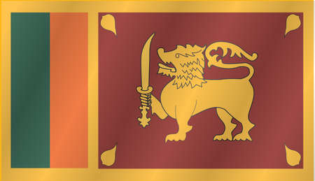 lanka: Waving flag of Sri Lanka Illustration