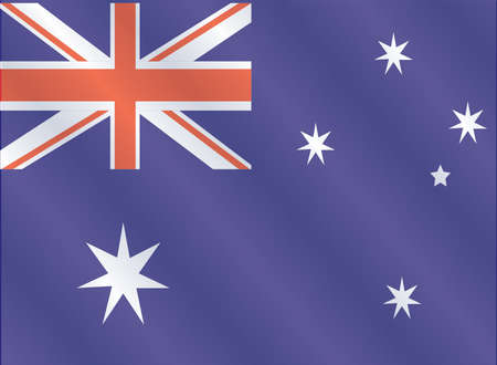 Australia flag, three dimensional render Vector