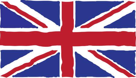 Vintage British Flag. Vector