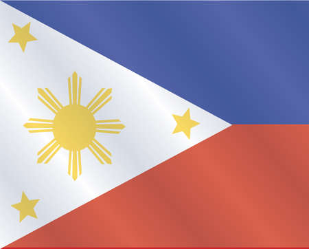 Waving flag of Philippines Vector