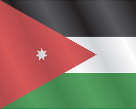jordanian: De Vlag van Jordanië Stock Illustratie