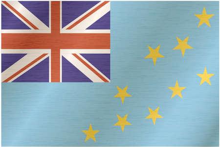 tuvalu: Tuvalu Flag Illustration