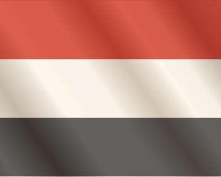 Flag of Yemen Arab Republic  Close Up  Illustration