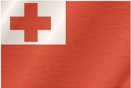 tonga: Flag of Tonga Illustration