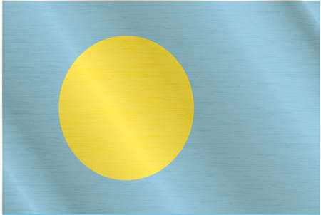 palau: Flag of Palau Illustration