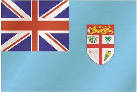 fiji: Fabric texture of the flag of Fiji
